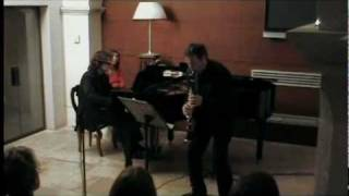 G. Gershwin - Rhapsody in Blue for clarinet and piano, DUO Tinelli-Mazzoccante (first part)