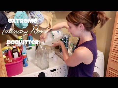 Extreme Laundry Room Declutter & Reorganize on a Budget! Before & After! Clean With Me!