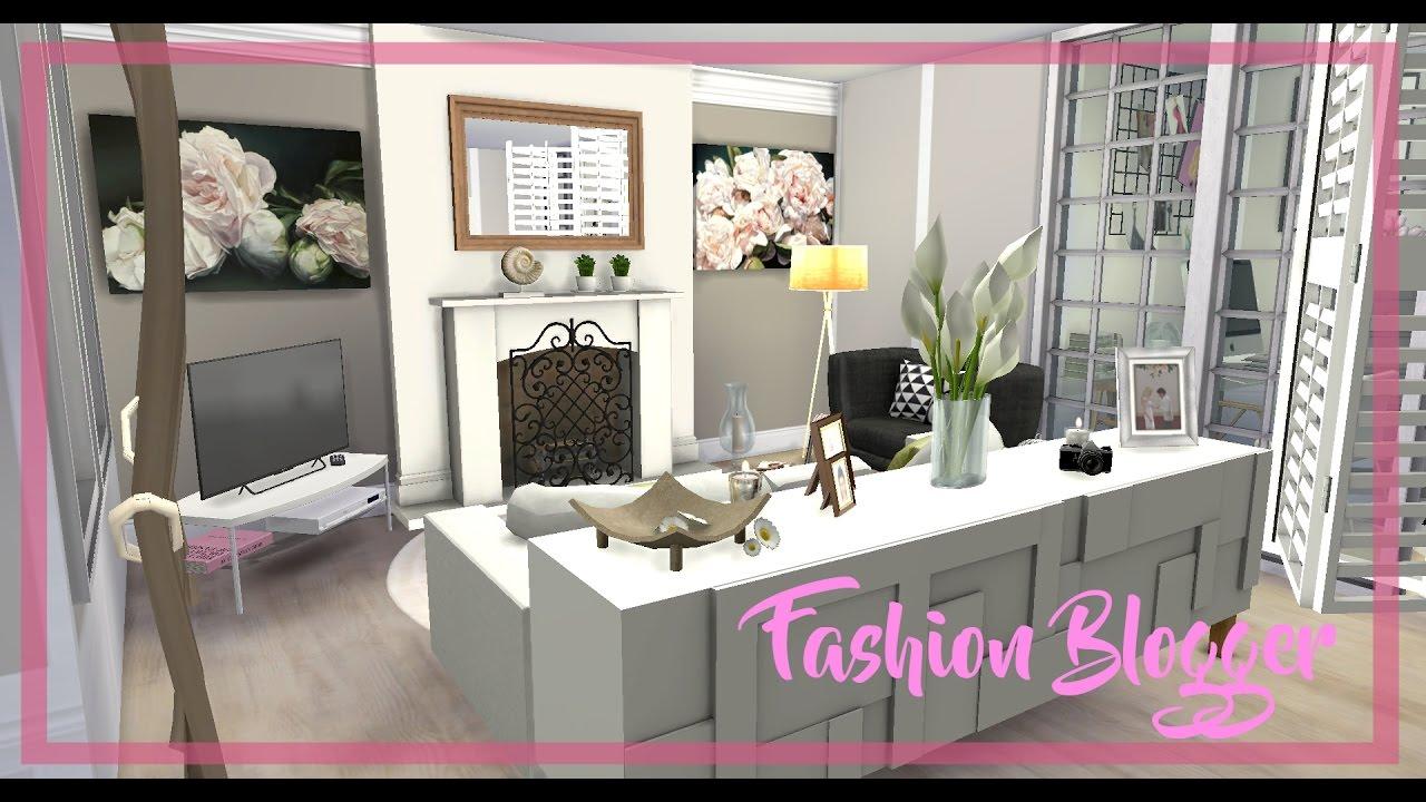 The Sims 4 Fashion Blogger Room Build Cc Youtube