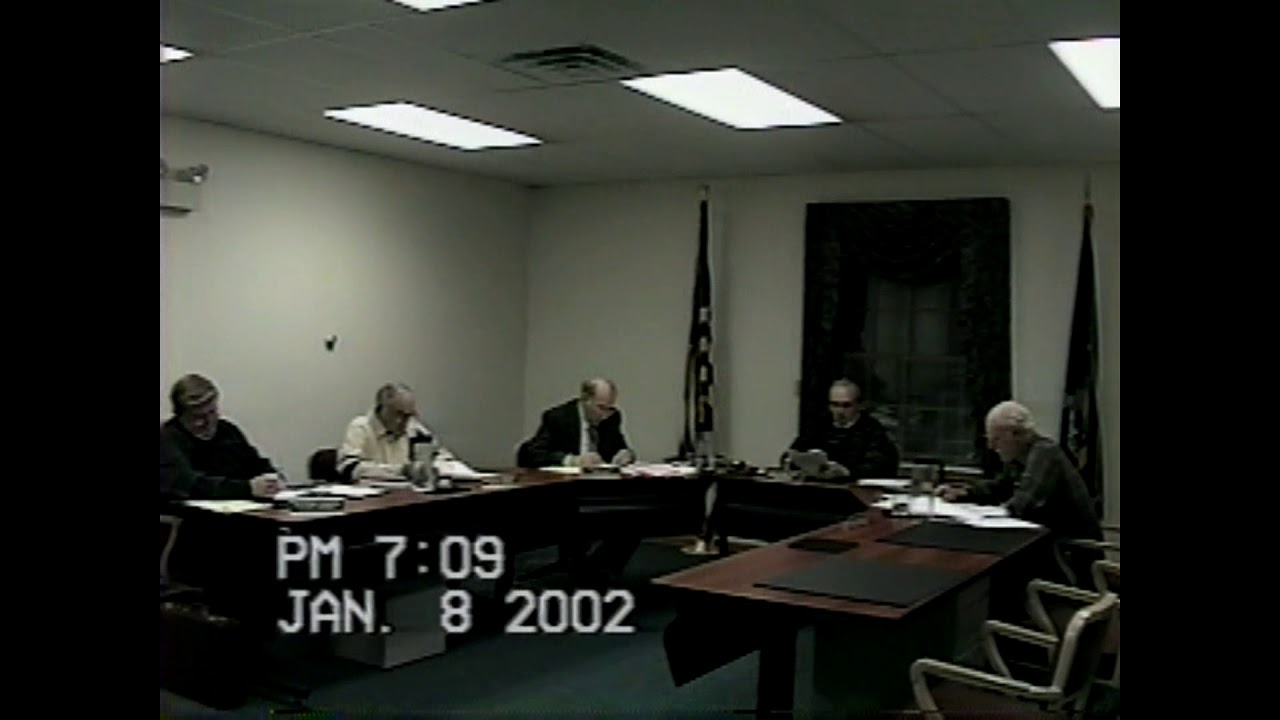 Champlain Town Board Meeting  1-8-02