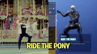 Fortnite Dance Moves Synced To Real Life! | Fortnite Battle Royale