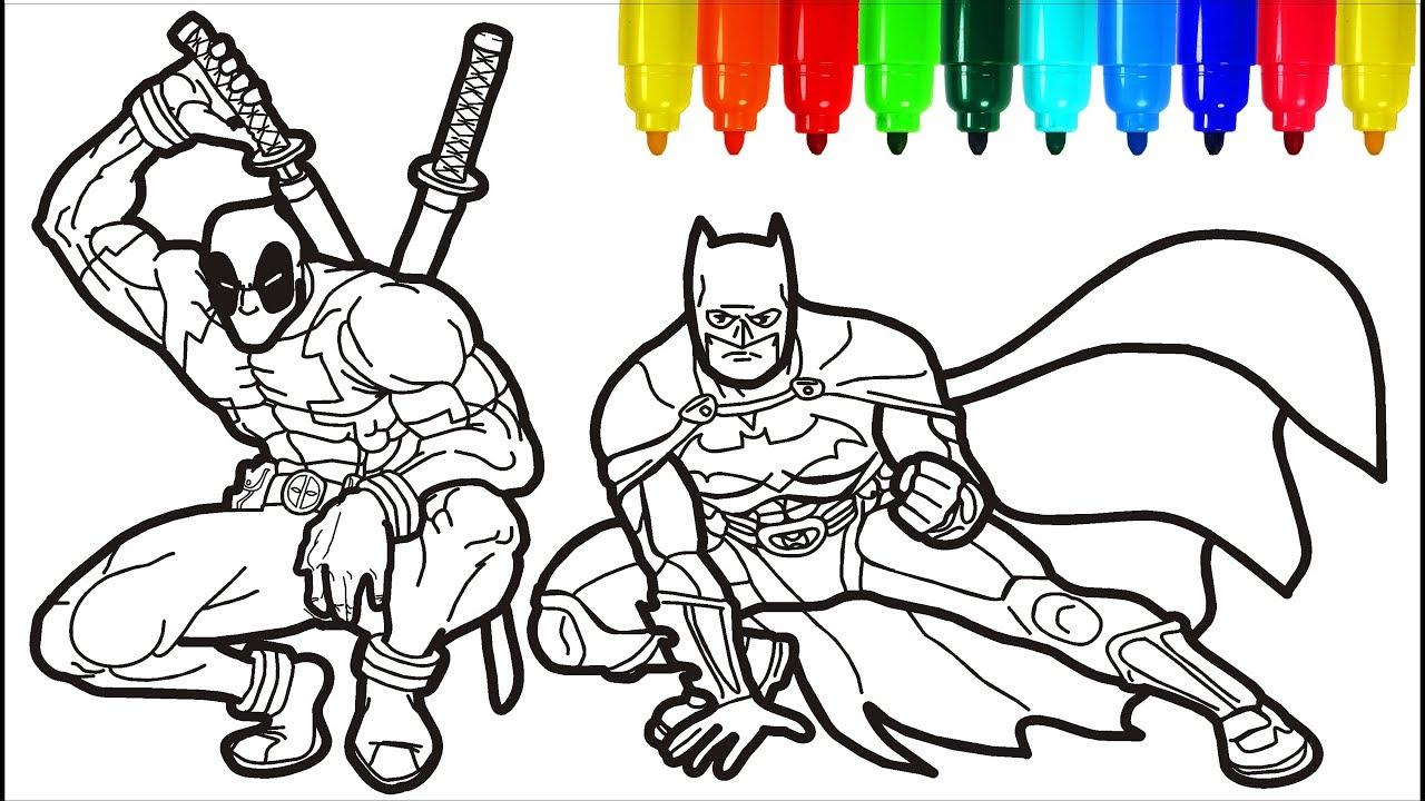 Deadpool Batman Coloring Pages