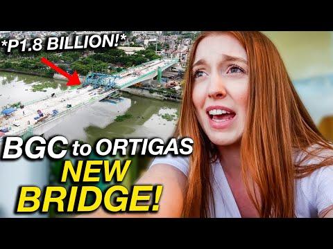 MANILA JUST GOT BETTER! 1.8 Billion Peso BGC to Ortigas Link Bridge
