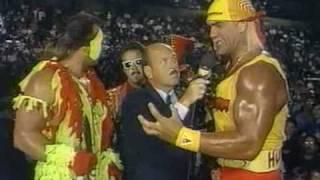 Beefcake/Hogan promo before Wrestlemania 9