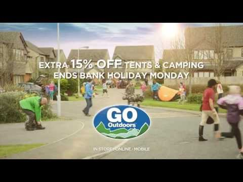 GO Outdoors - Extra 15% Off Tents & Camping - Thursday 2nd May - Monday 6th May
