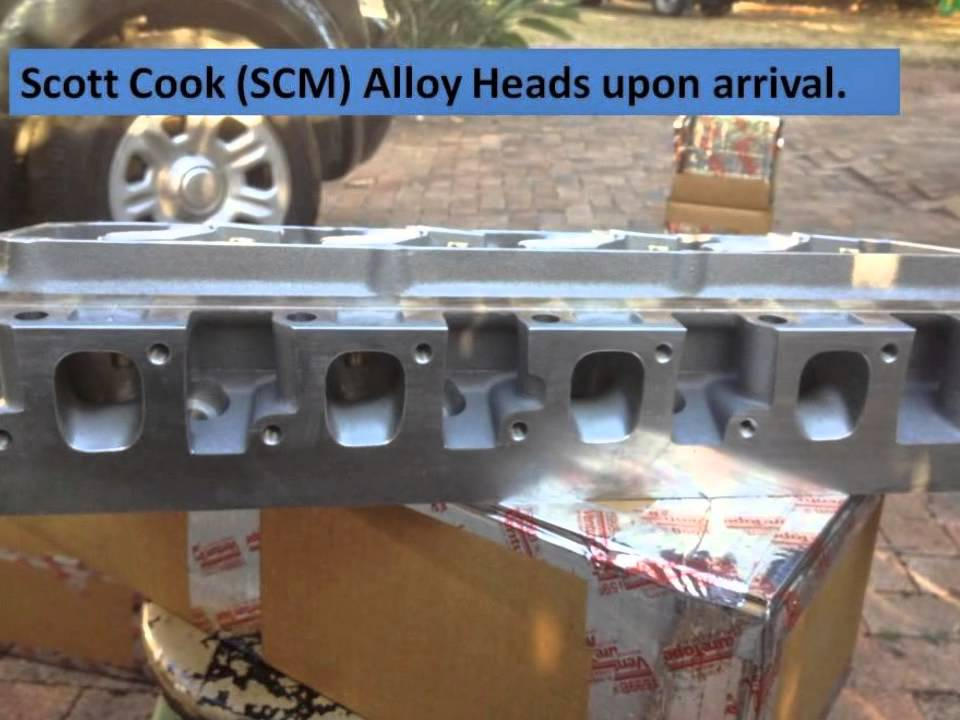 351c Engine build SCM alloy heads - YouTube