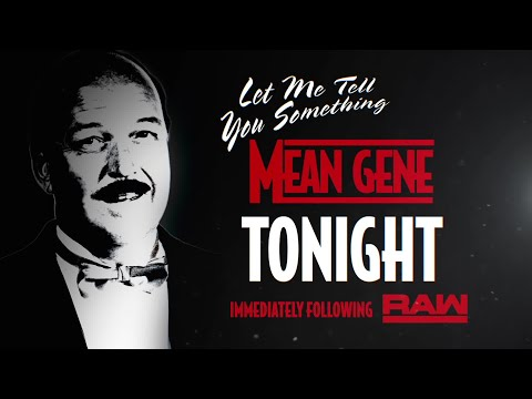 """Let Me Tell You Something """"Mean"""" Gene - Streaming tonight on WWE Network"""