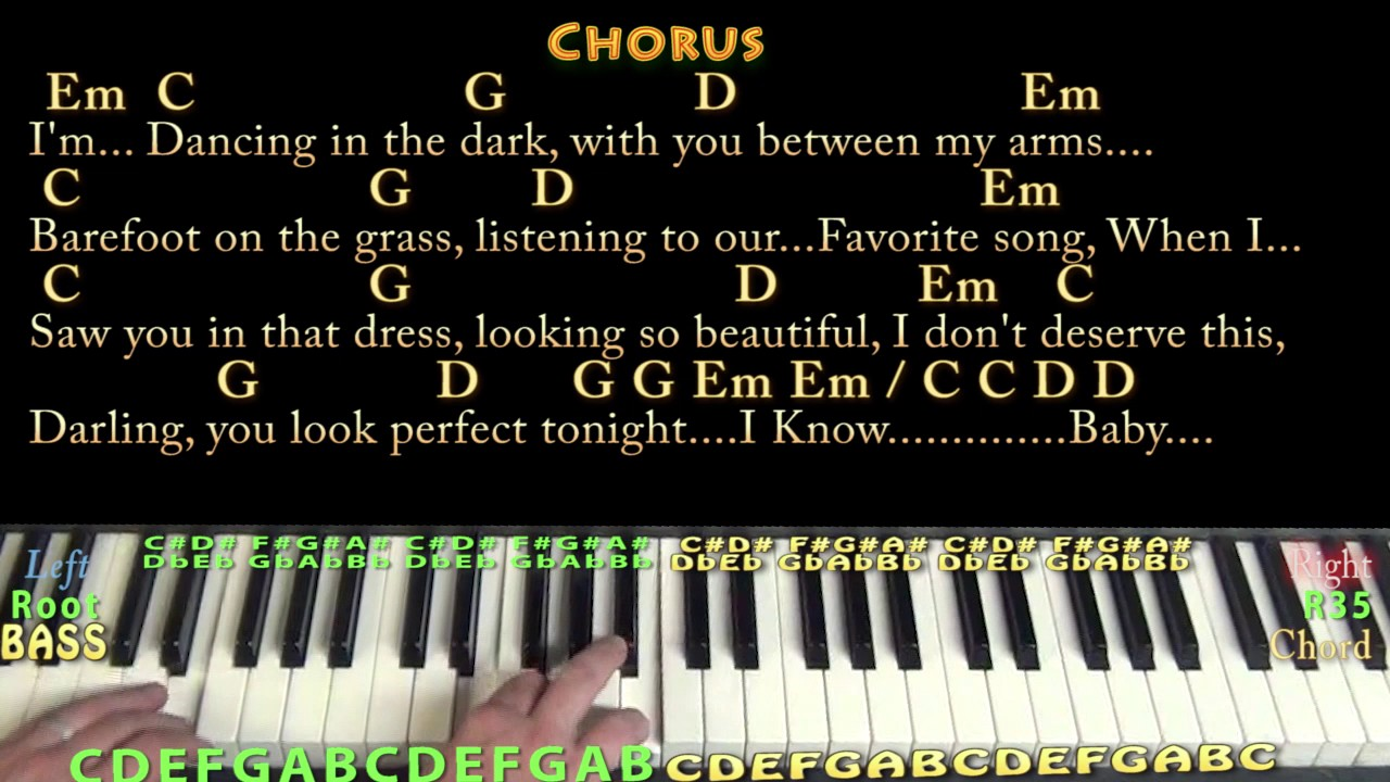 Perfect (Ed Sheeran) Piano Cover Lesson in G with Chords ...