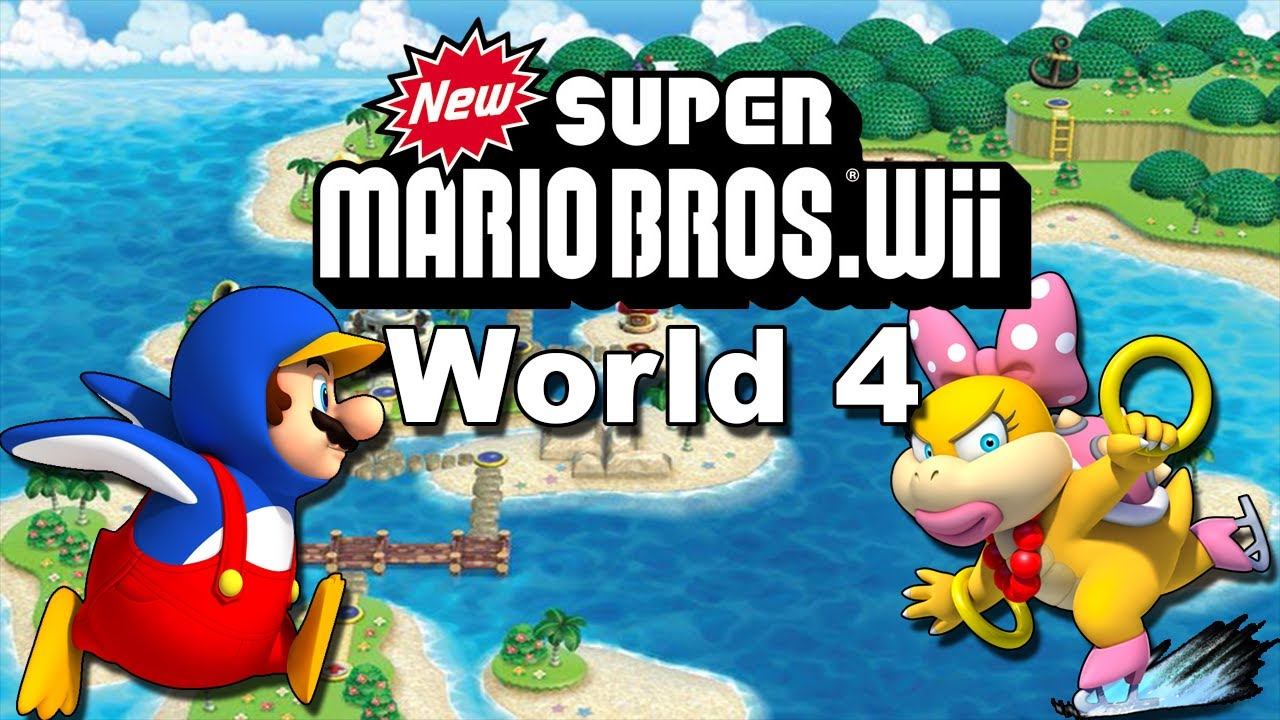 NEW SUPER MARIO BROS Wii #4 - World 4 (Todas as Star Coins) - YouTube