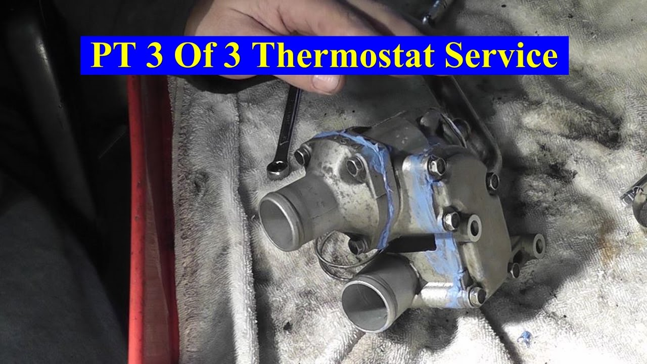 hight resolution of 1996 nissan 2 4l cooling system pt 3 thermostat service final retest