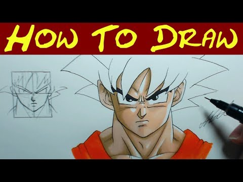 how to draw goku face an in depth guide youtube