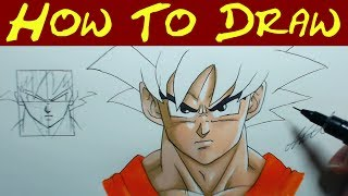 How to draw Goku FACE - An In-depth Guide