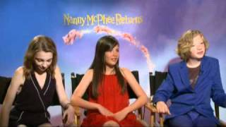 Interview Part 1 with Lil Woods, Eros Vlahos and Rosie Taylor for Nanny McPhee Returns