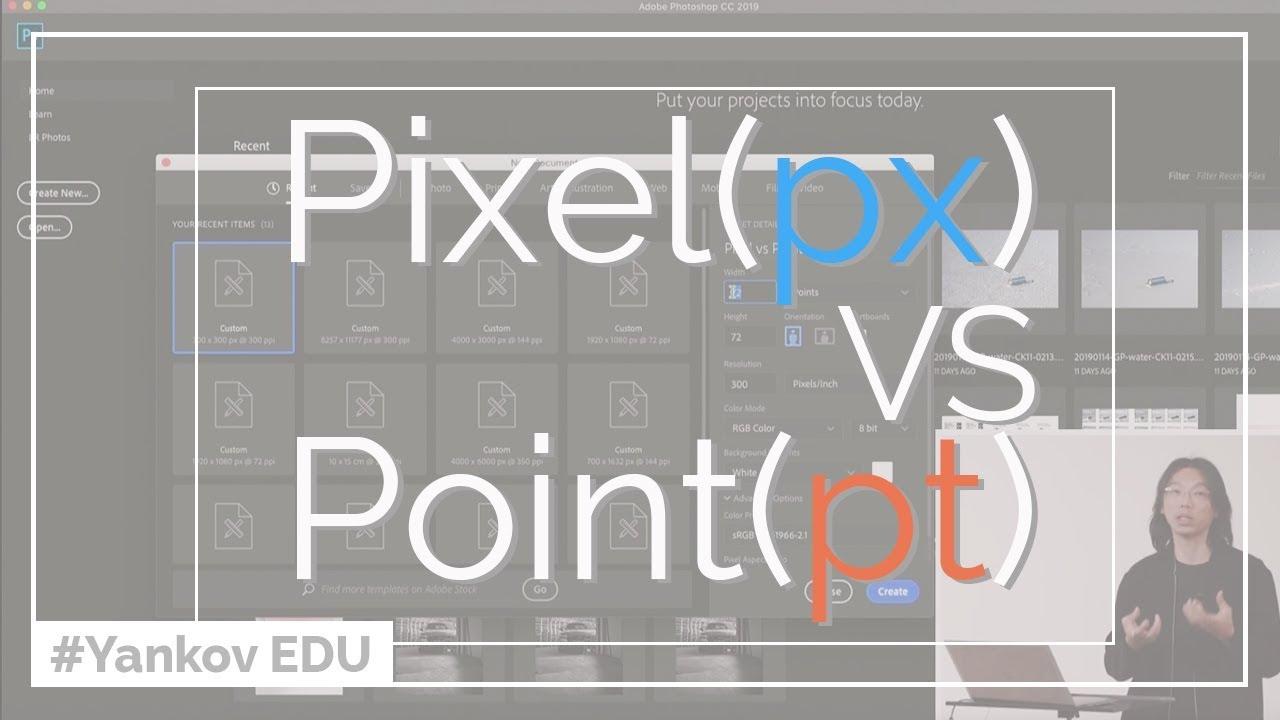 Pixel (px) 同 Point (pt)有咩分別?Photoshop中影像尺寸嘅意思 - YouTube