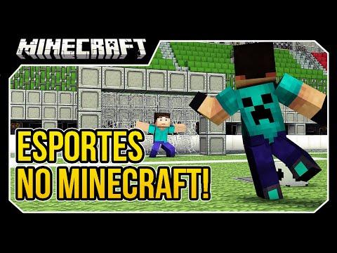 Minecraft - ESPORTES (FUTEBOL, TENNIS, BASQUETE, BASEBALL) Mod Showcase!