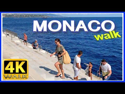 【4K】WALK MONACO Travel vlog 4K VIDEO - Walking tour SLOW TV
