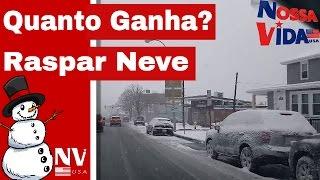 Quanto Ganha - Raspar Neve nos Estados Unidos - Limpeza de Neve