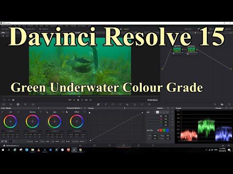 Davinci Resolve Green Underwater Colour Grade