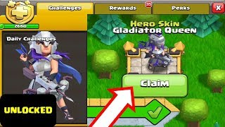 Unlocking - GLADIATOR QUEEN - Skin in Clash of Clans (New Season Gold Pass COC)