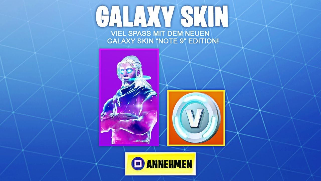 Get Fortnite Galaxy Skin Free Tutorial