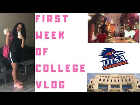 College Vlog: First Week of School| UTSA Move- In, Parties and More.