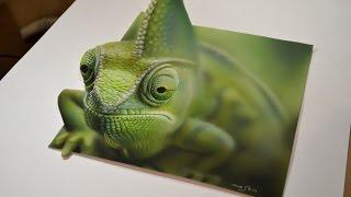 3D Рисунки карандашом и аэрографом (Хамелеон).  3D drawing (hemeleon)(3D Рисунки карандашом и аэрографом (Хамелеон). 3D drawing (hemeleon) Если это видео наберет много лайков, сделаю урок..., 2016-04-02T18:44:02.000Z)