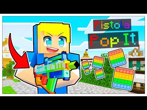 CREO LA PISTOLA POP IT! - Famiglia Di Minecraft 2021