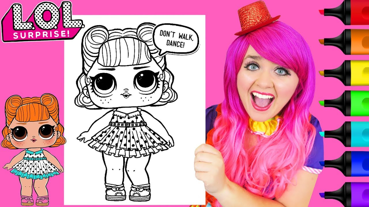 Coloring Lol Surprise Dolls Jitterbug Coloring Page Prismacolor Paint Markers Kimmi The Clown Youtube