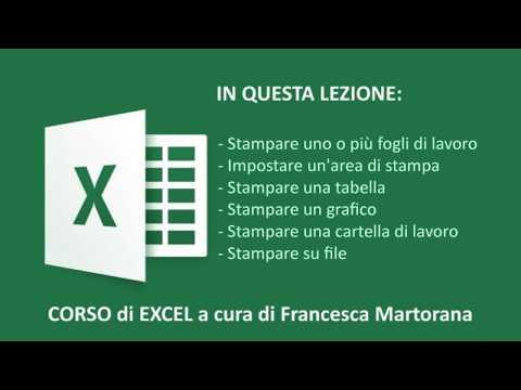Excel 2016 - Tutorial 9: Gestire la stampa in Excel