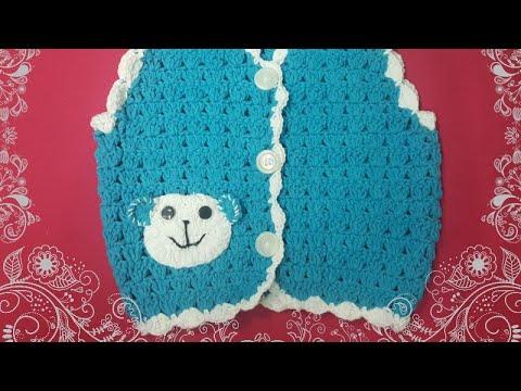 Hướng dẫn móc áo giles cho bé trai. phan 1- guide crochet baby
