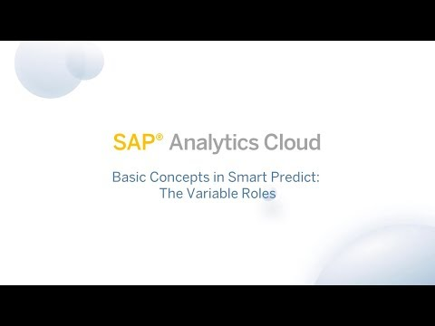 Basic Concepts in Smart Predict: The Variable Roles