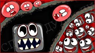 МАЛЫШ КРАСНЫЙ ШАРИК 4 - ПРОТИВ ОГРОМНЫХ КВАДРАТОВ ! ПОДЗЕМНЫЕ ХОДЫ мультик для детей шар RED BALL 4