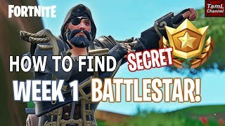 Comment trouver SECRET Semaine 1 Découverte BATTELSTAR! (Fortnite Battle Royale Saison 8)