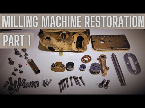 Vilh Pedersen milling machine 1950 restoration