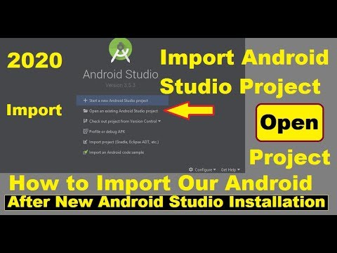 How To Import Your Android Project After Installing New Android Studio (New Gradle)