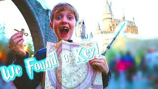 We Found A Treasure Map And Key At Hogwarts In Universal Studios Hollywood! Mr. E Adventure!