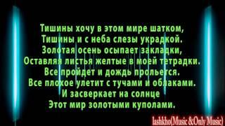 Тишины хочу текст (lyrics)