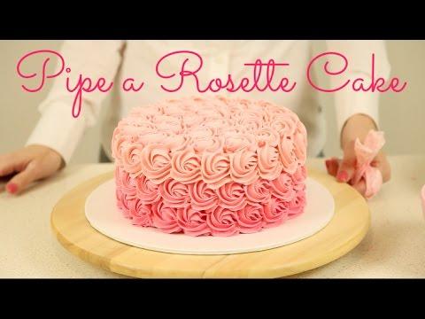 CAKE TREND ~ Decorate an Ombré Rosette Cake - CAKE STYLE