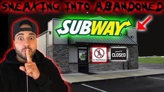 (SUBWAY) SNEAKING INTO ABANDONED SUBWAY // OVERDAY CHALLENGE IN AN ABANDONED SUBWAY!!