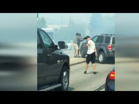 WATCH: Search for stolen truck ends with dramatic takedown in B.C.