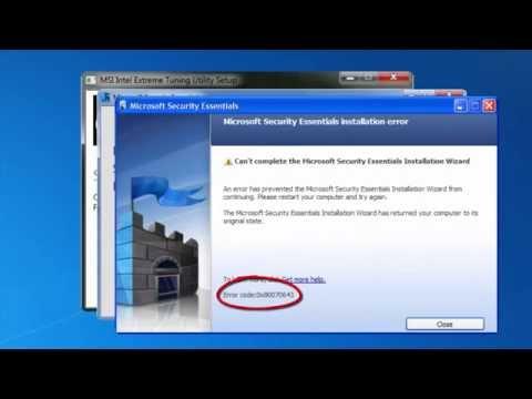 How to Fix PC 0x80070643 Error Code