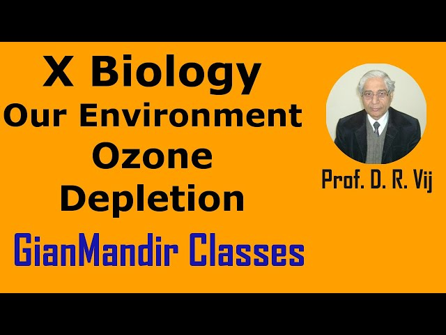 X Biology | Our Environment | Ozone Depletion by Manjit Ma'am