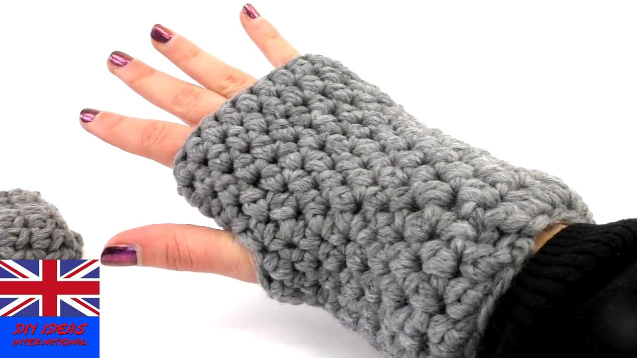Crochet Fingerless Gloves Tutorial For Beginners : crochet gloves fingerless for beginners Tutorial: how to ...