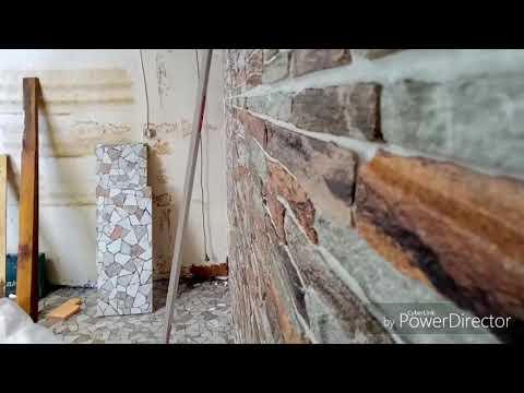 #Декоративная панель.  #Дешёвый вариант отделки стен