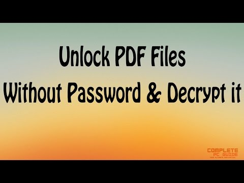 How To Unlock PDF File Without Password And Decrypt It?