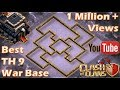 TH 9 TOWN HALL 9 ANTI 2 STARS WAR BASE SPEEDBUILD REPLAY PROOF CLASH OF CLANS