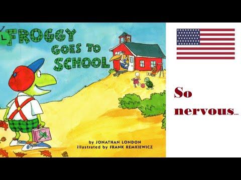 Froggy goes to school by Jonathan London. Kindergarten reading aloud. Getting ready for school