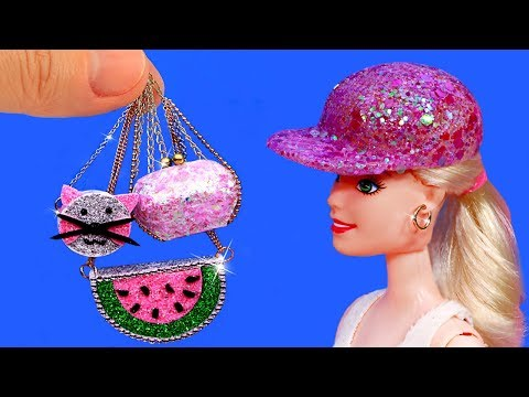 Top 5 DIY Miniature Accessories for BARBIE | Made From simple materials