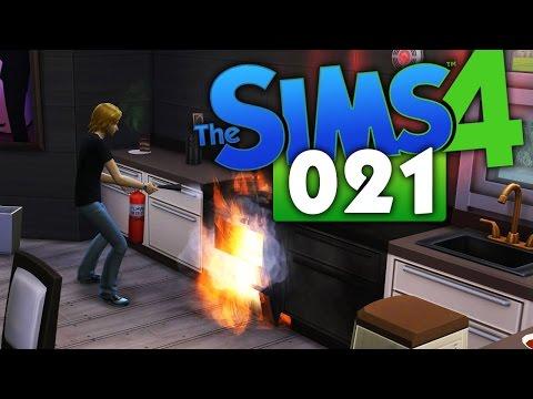 DIE SIMS 4 #021 ► FEUER IM HAUS! [HD] ★ Die Sims 4 Let's Play