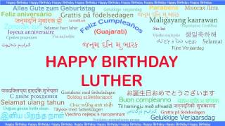 Luther   Languages Idiomas - Happy Birthday